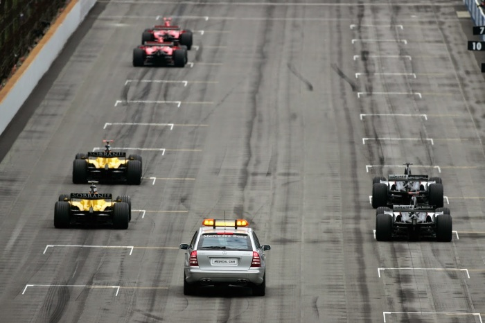 USA F1 Empty Grid