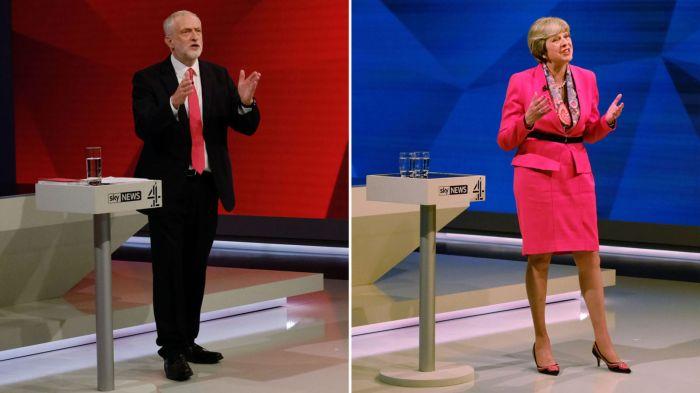 May v Corbyn